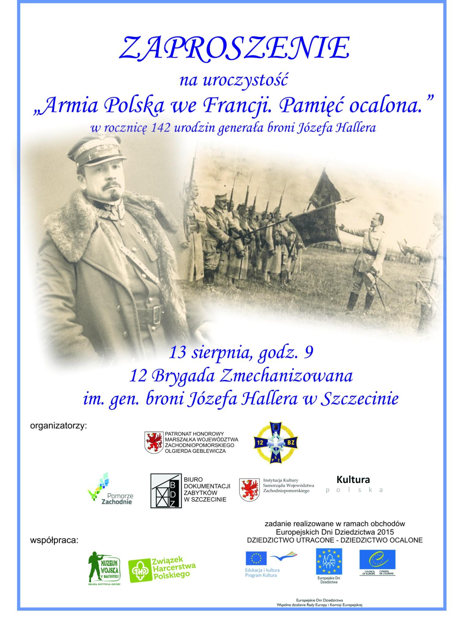 Polska - zaproszenie 13 sierpnia